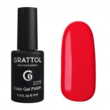 Grattol Color Gel Polish Pure Red 083, 9 мл